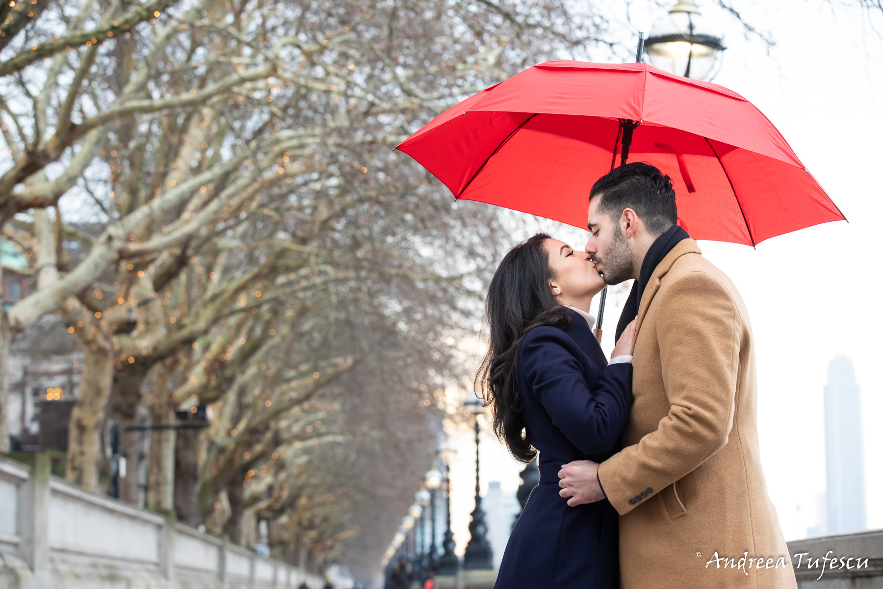 Engagement Photoshoot Central London Thames River walk Y & H