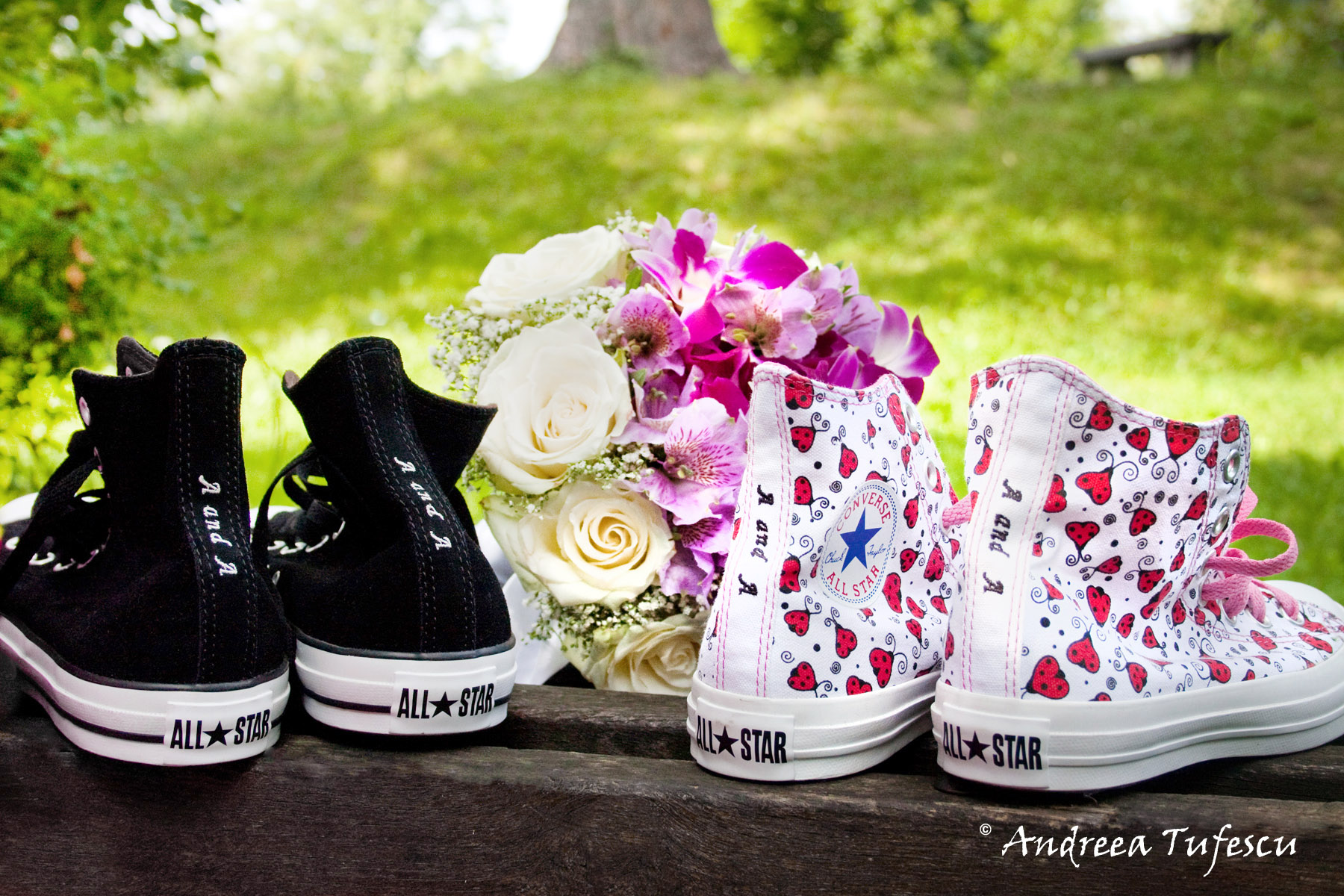 Alternative Wedding Details customised shoes A & A