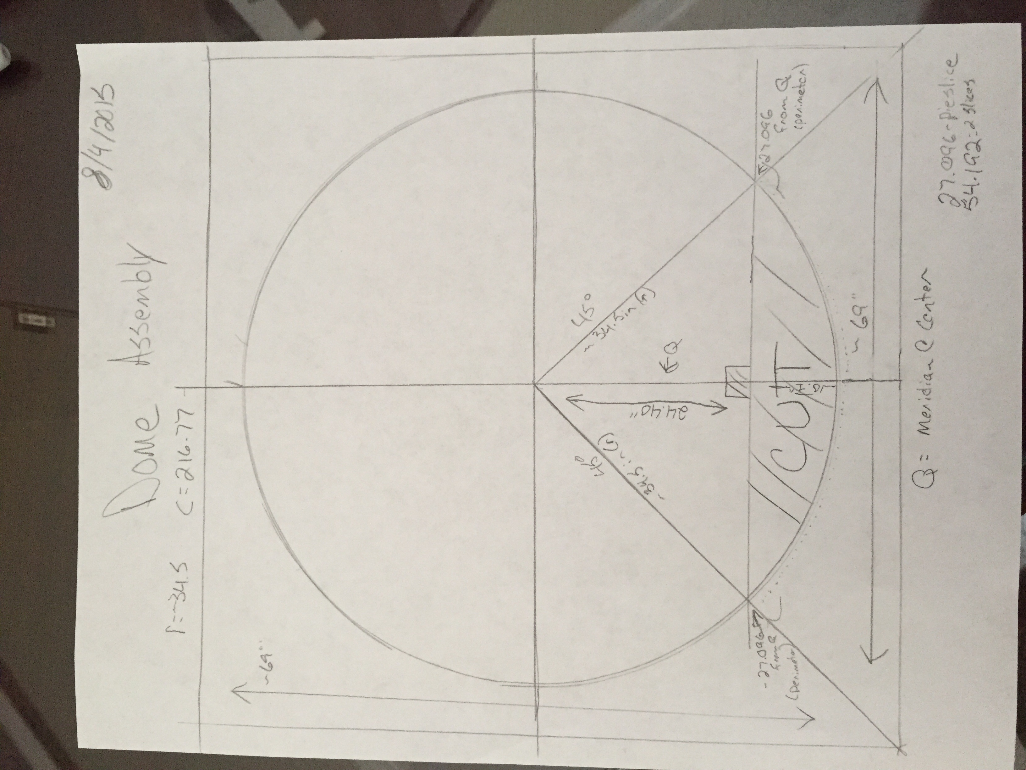 This is the sketch that sent around to a few fab shops explaining the cut-off portion of the truncated-dome.