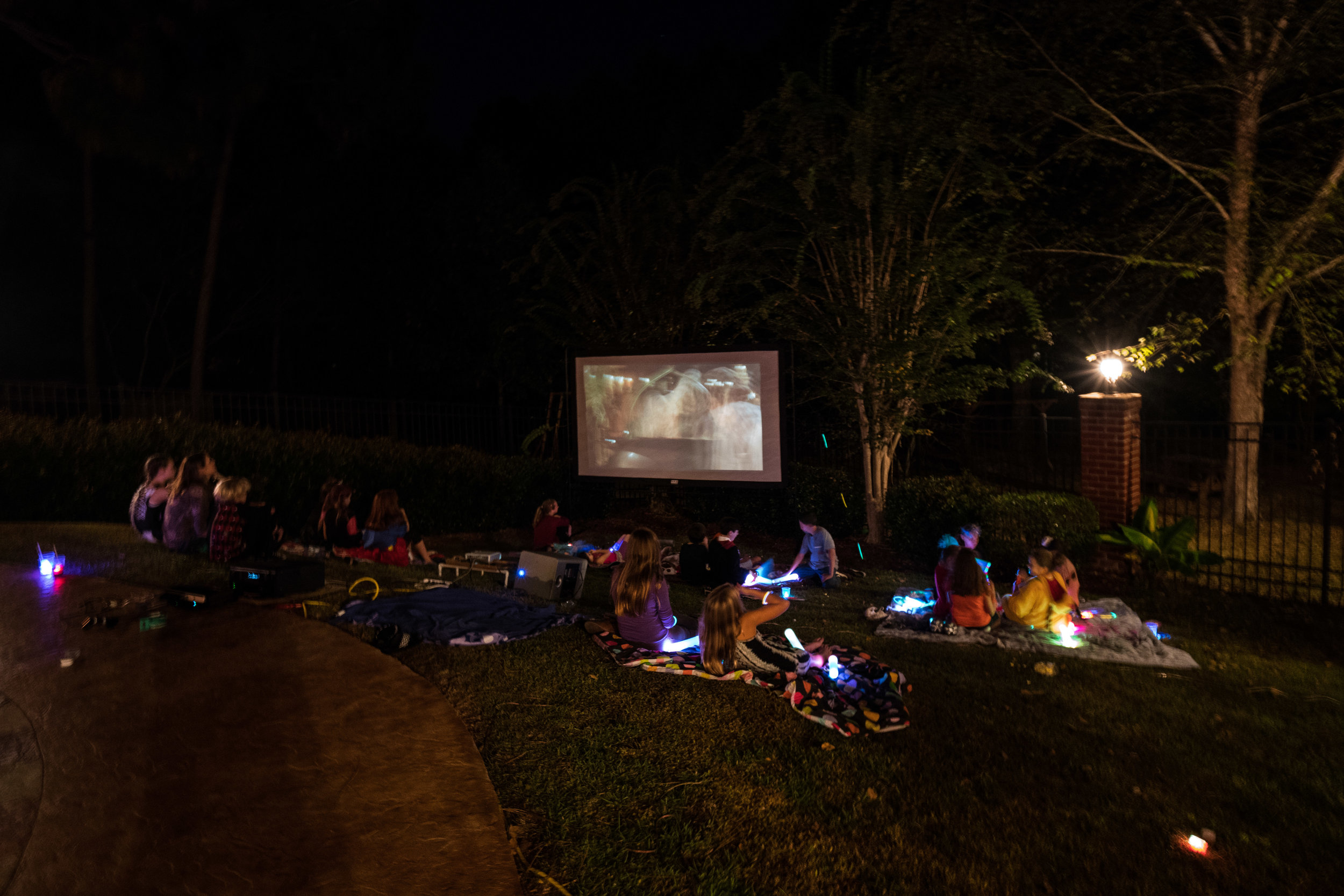 We watched Hocus Pocus on the outdoor screen. There is something just fun and magical about outdoor movies in the cooler fall evenings!
