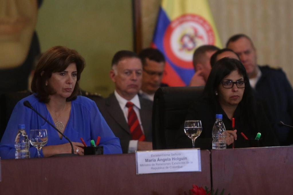 Cancilleres de Colombia y Venezuela culminan reunión en Caracas sin emitir declaración | Foto: cortesía VTV