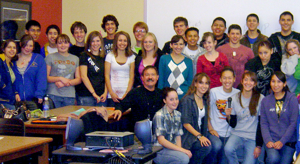 Poetry students, bloomfield, new mexico