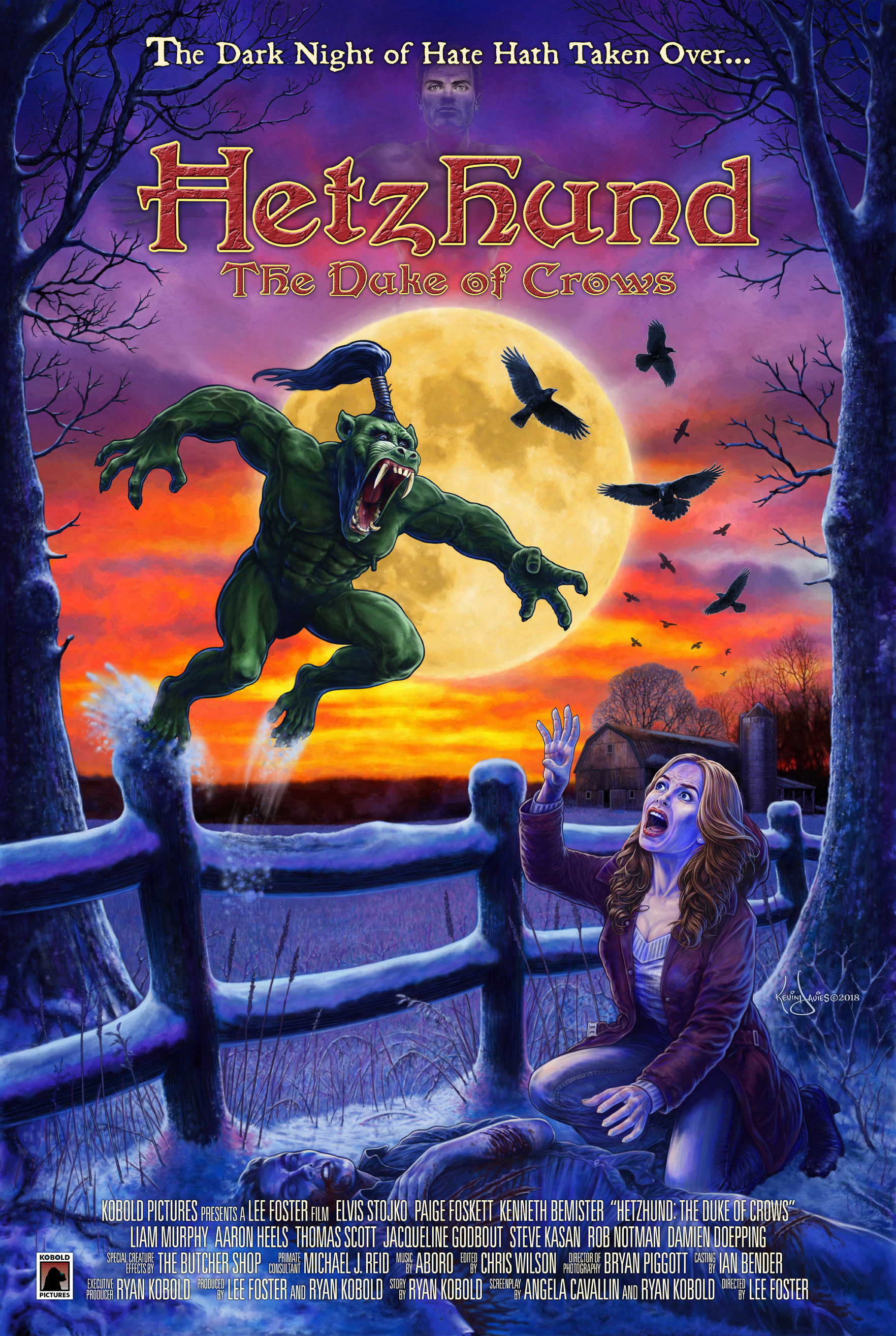 Hetzhund: The Duke of Crows  follows a young pastor (Elvis Stojko) in his journey to stop a terribly evil as it rampages across a small country village, leaving only death in its wake.