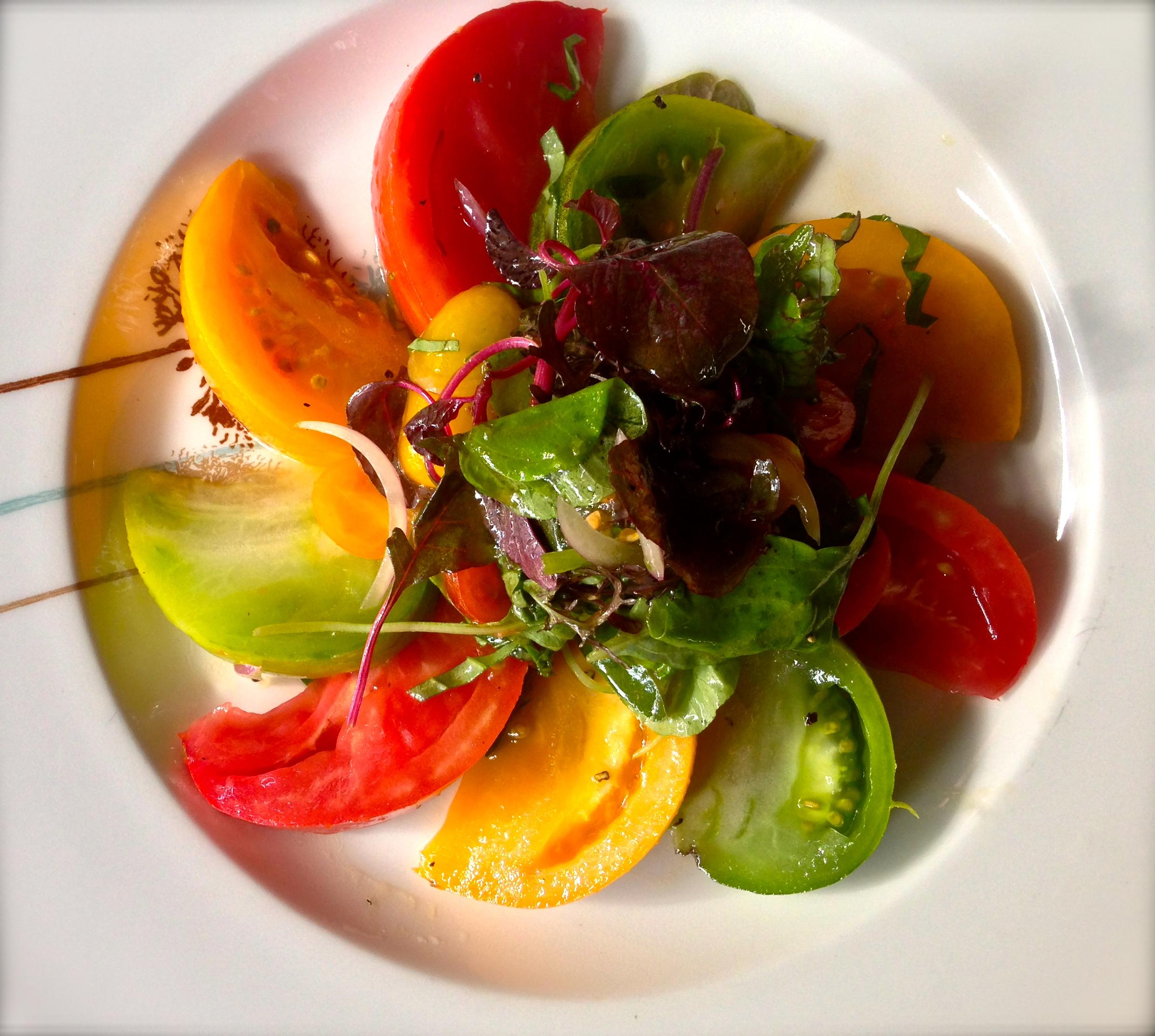 Seasonal Heirloom Tomatoes Salad