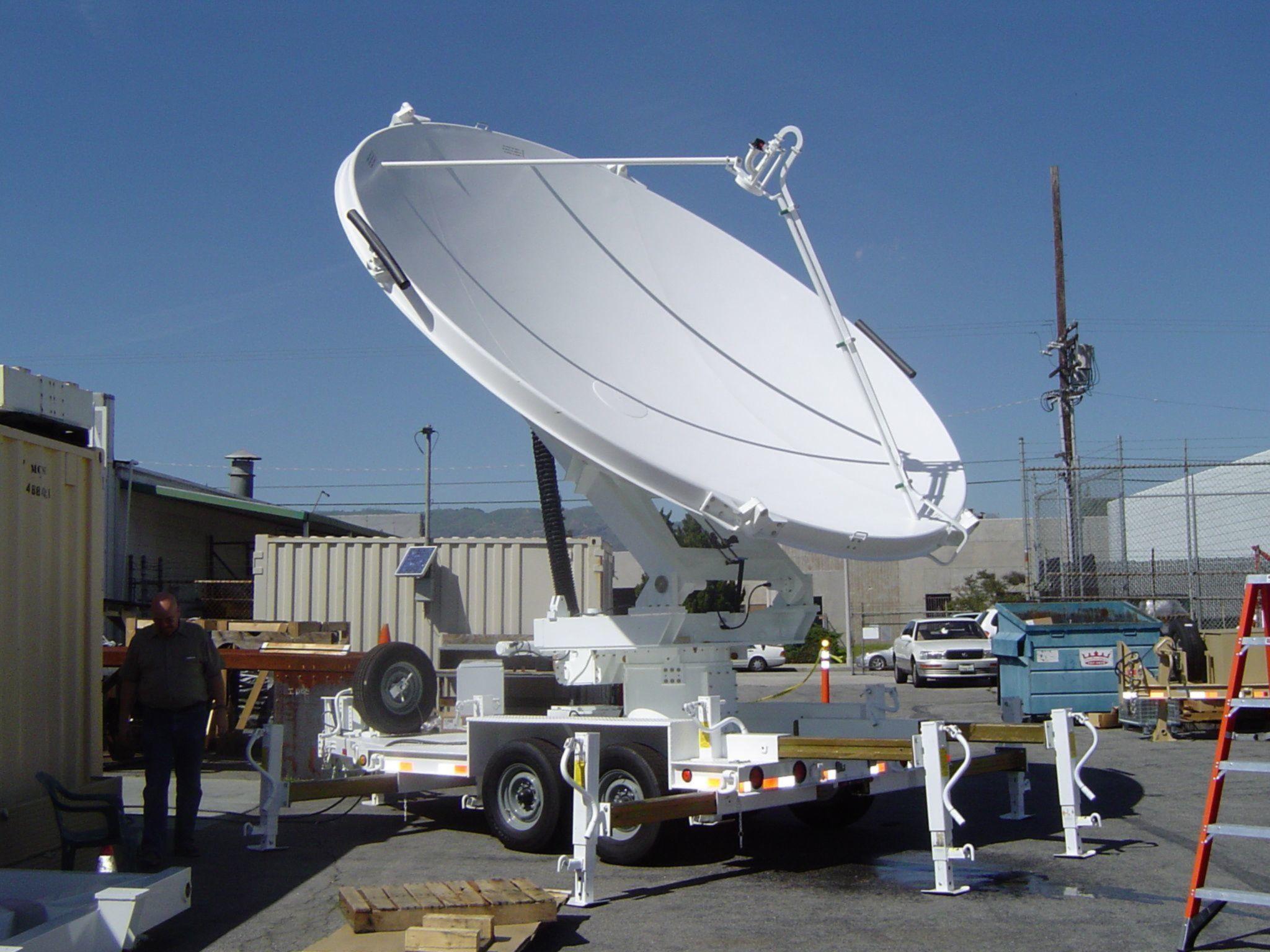 3 meter Transportable Satellite Communication Antenna System