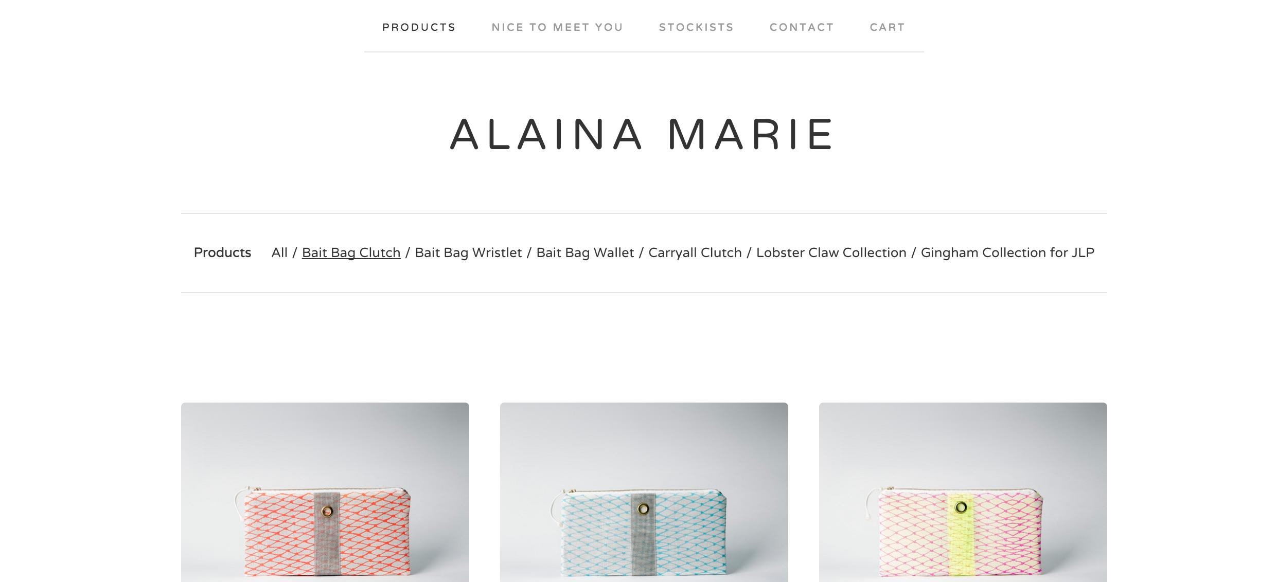 Alaina Marie, Bait Bags