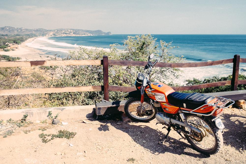 View from Magnific Rock looking towards Playa Santana.