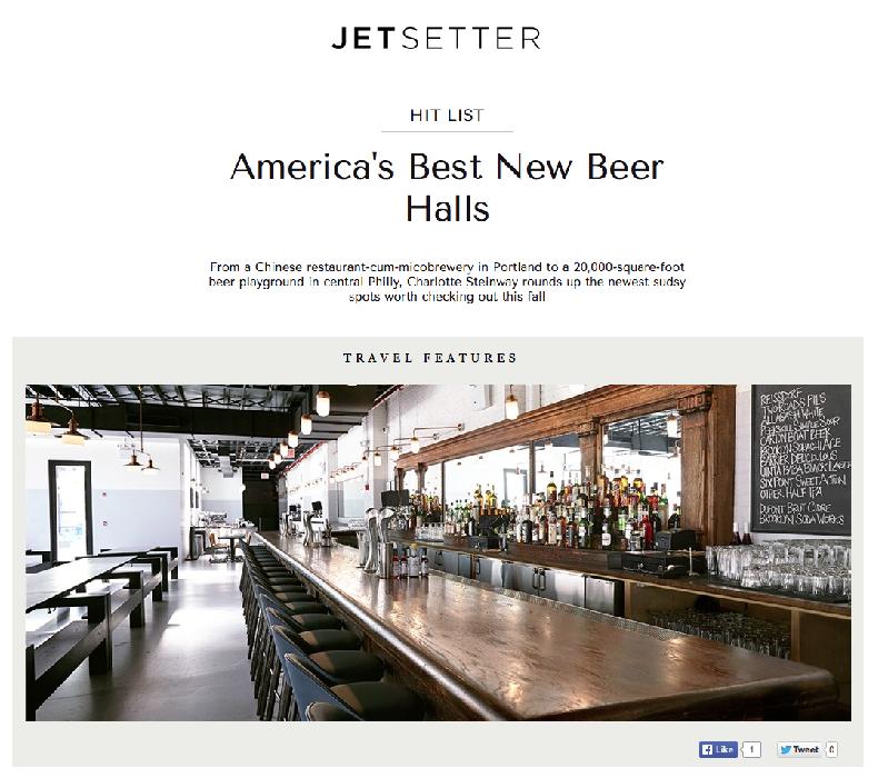 Jetsetter:   America's Best New Beer Halls