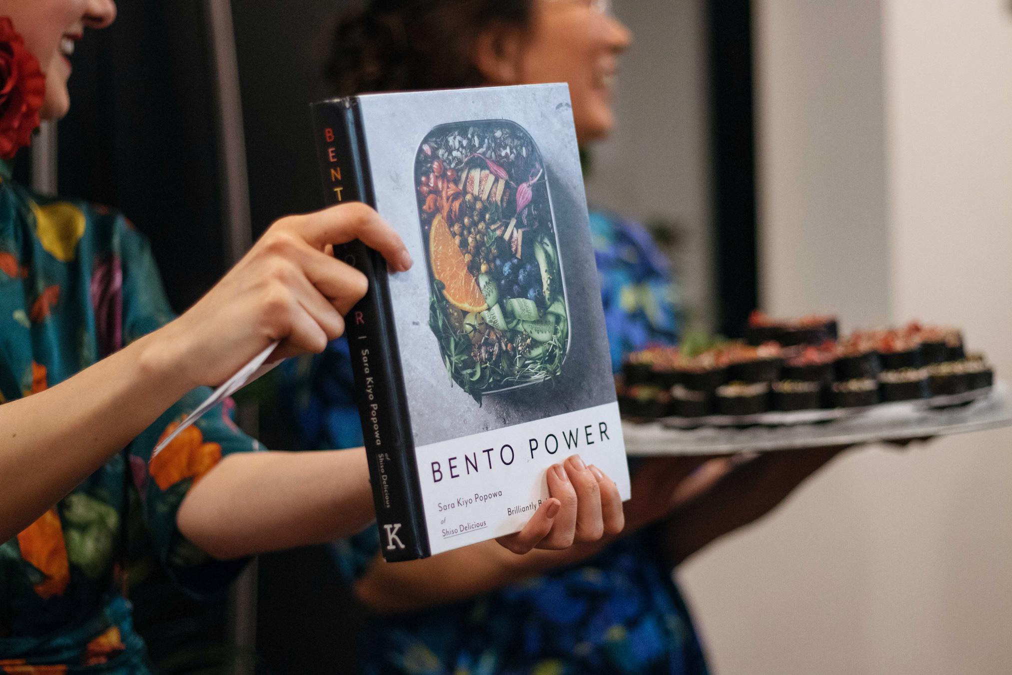 Sara Kiyo Popowa, author of Bento Power at Plant Hub and Gung Ho launch night February 2019, London. Photo by Ariana Ruth.
