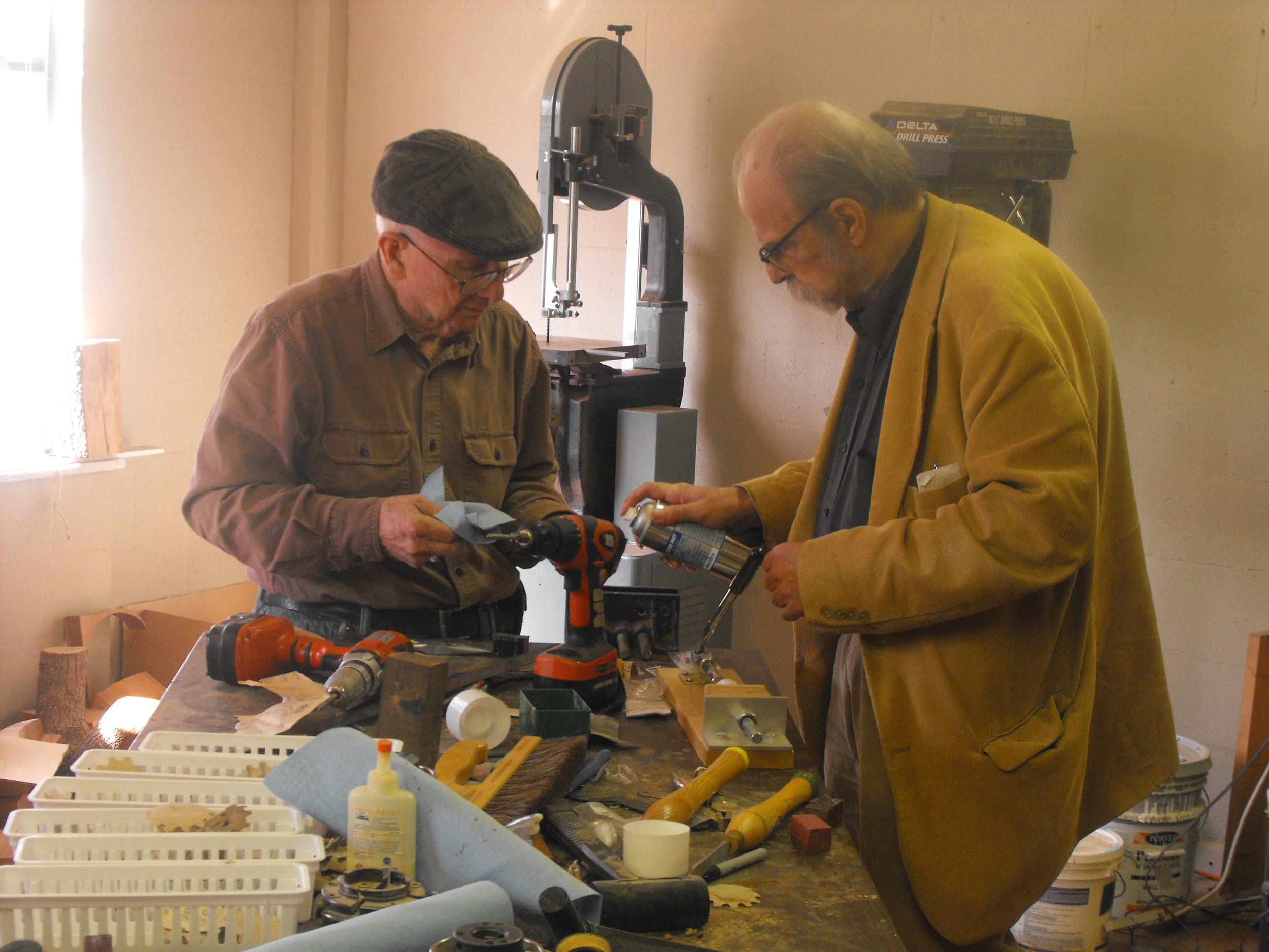 Bill Graves and Daniel Strickland, Art, Wood Shop.jpg