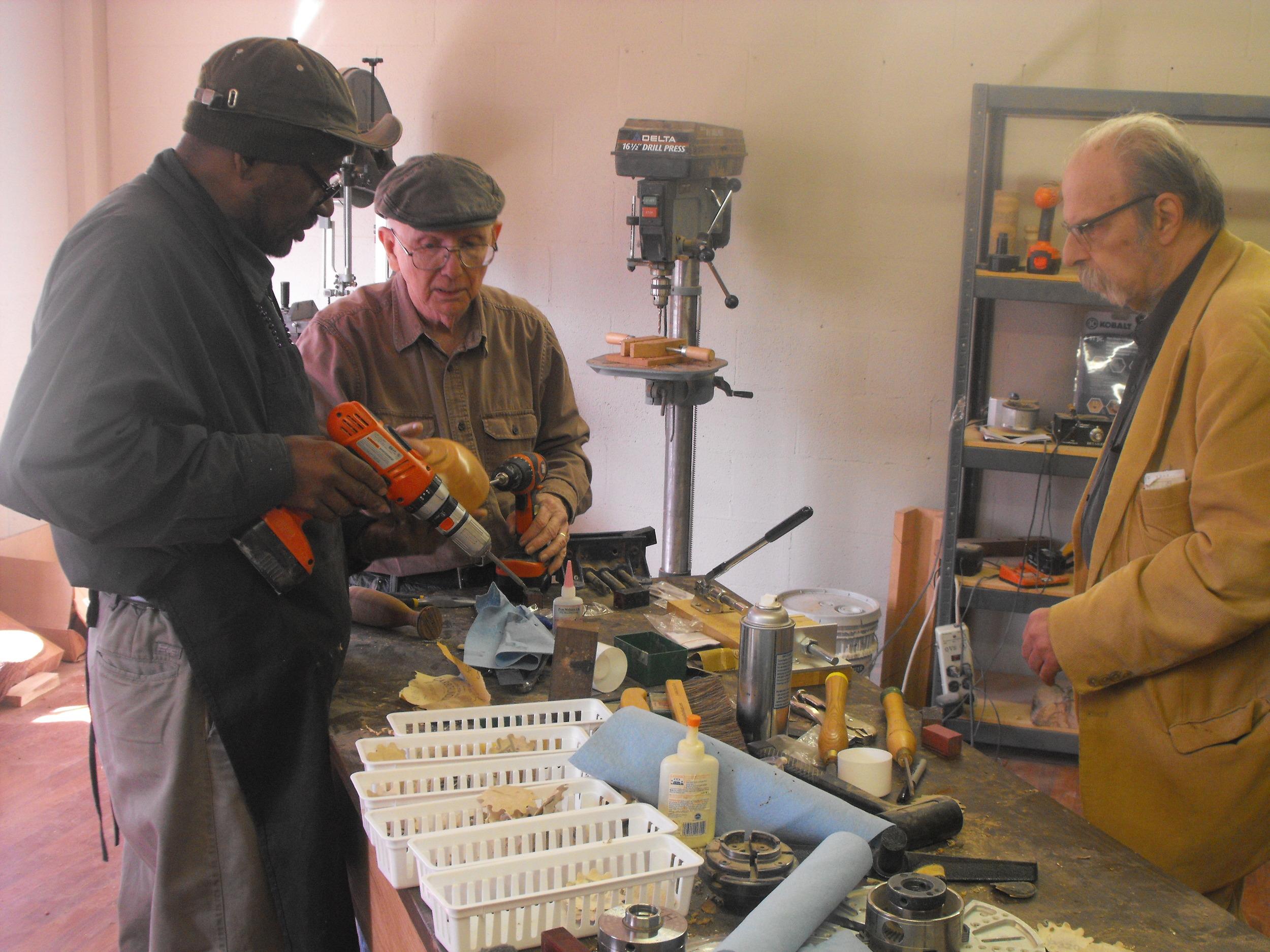 Willie, Bill, Daniel, Art, Wood Shop.jpg