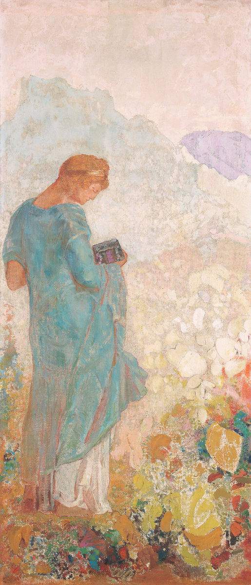 """Pandora"" by Odilon Redon, image from the  National Gallery of Art   website"