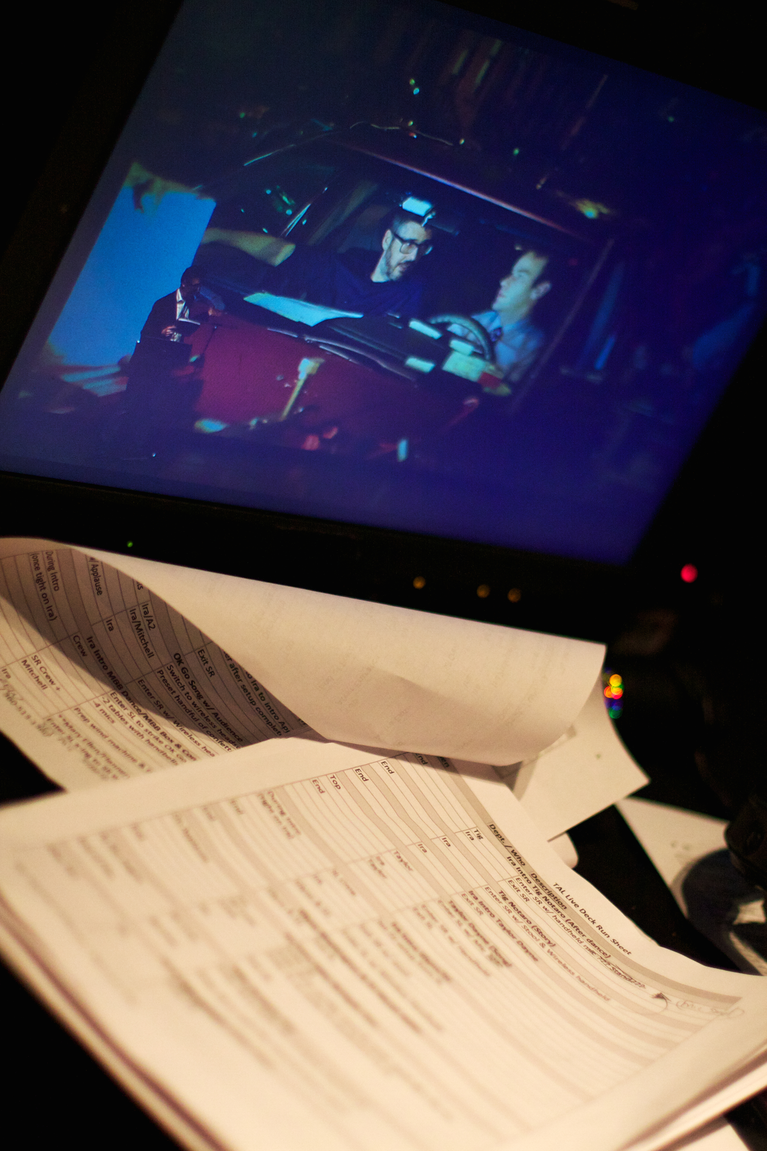Backstage Notes