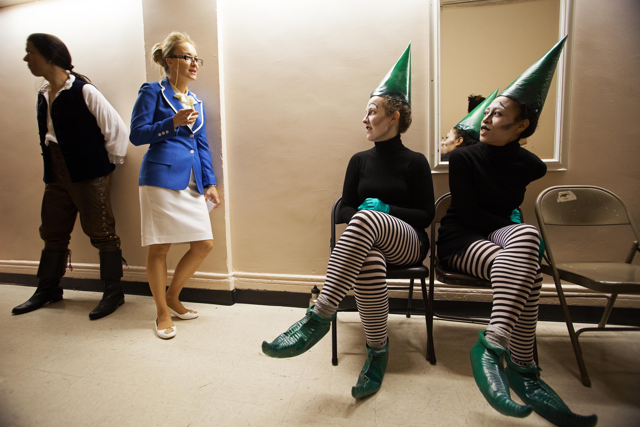 Opera Singers Backstage