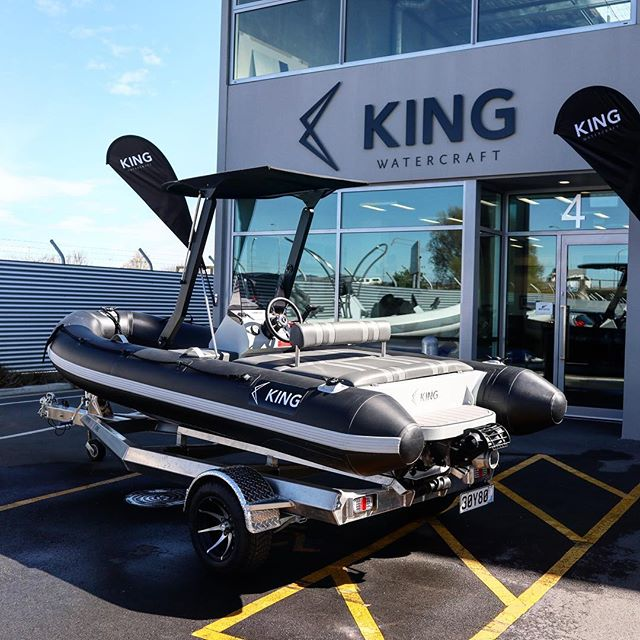 This little tender has just hit the road north for the Auckland On Water Boat Show! We look forward to seeing you there!! #jettender #nzmade #jetrib #inflatablejetboat #superyachttender #yachttender #nzboat #boatingnz #aowbs2019