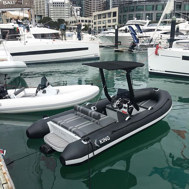 Come down and see our new 4.0 jet Tender now on display at the @aowbs #nzmade #jetboatnz #jetrib #jettender #jettenders #yachttender #superyachttender #yachtribtender