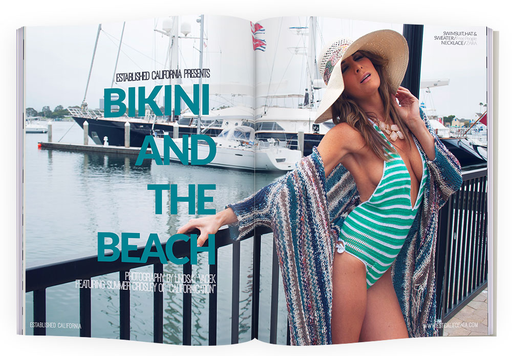 Established California   Fashion   Est. Editorials Bikini and the Beach