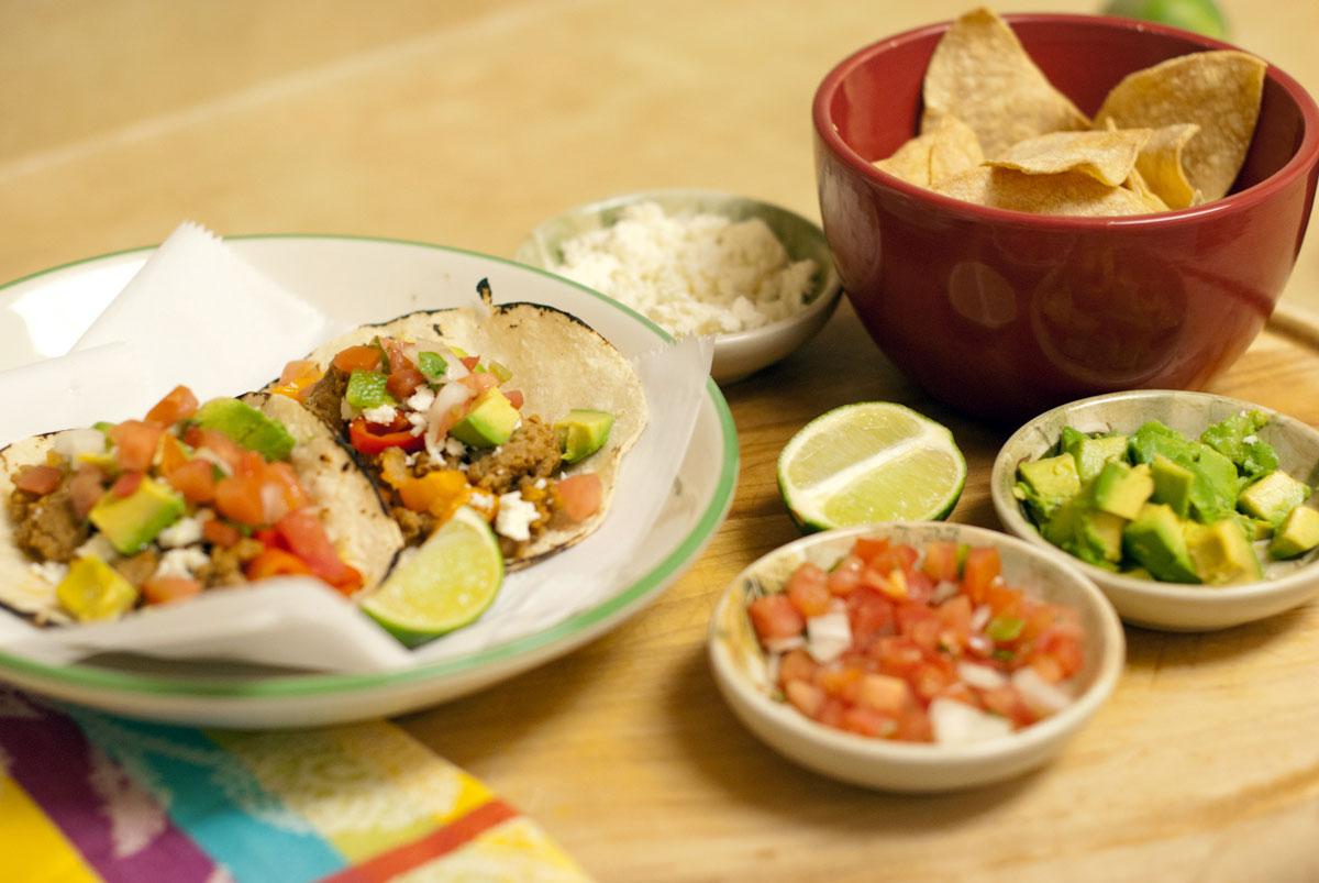 Established California | Grub | Turkey Soft Tacos | Garnish