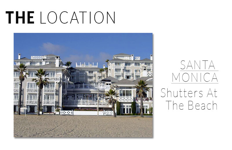 Established California | Fashion | Wedding Guest Style | Santa Monica Shutters at the Beach