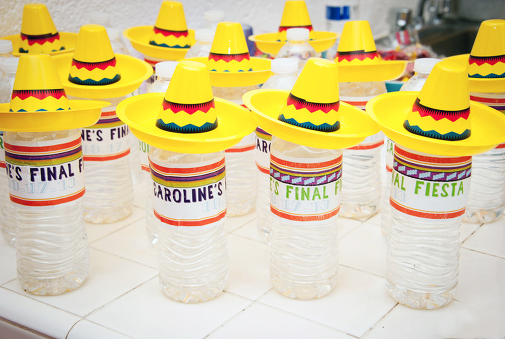 Established California | Party | Final Fiesta | Sombrero water bottles