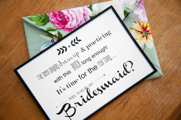 Established California | Party | Bridesmaids | Envelope and Card