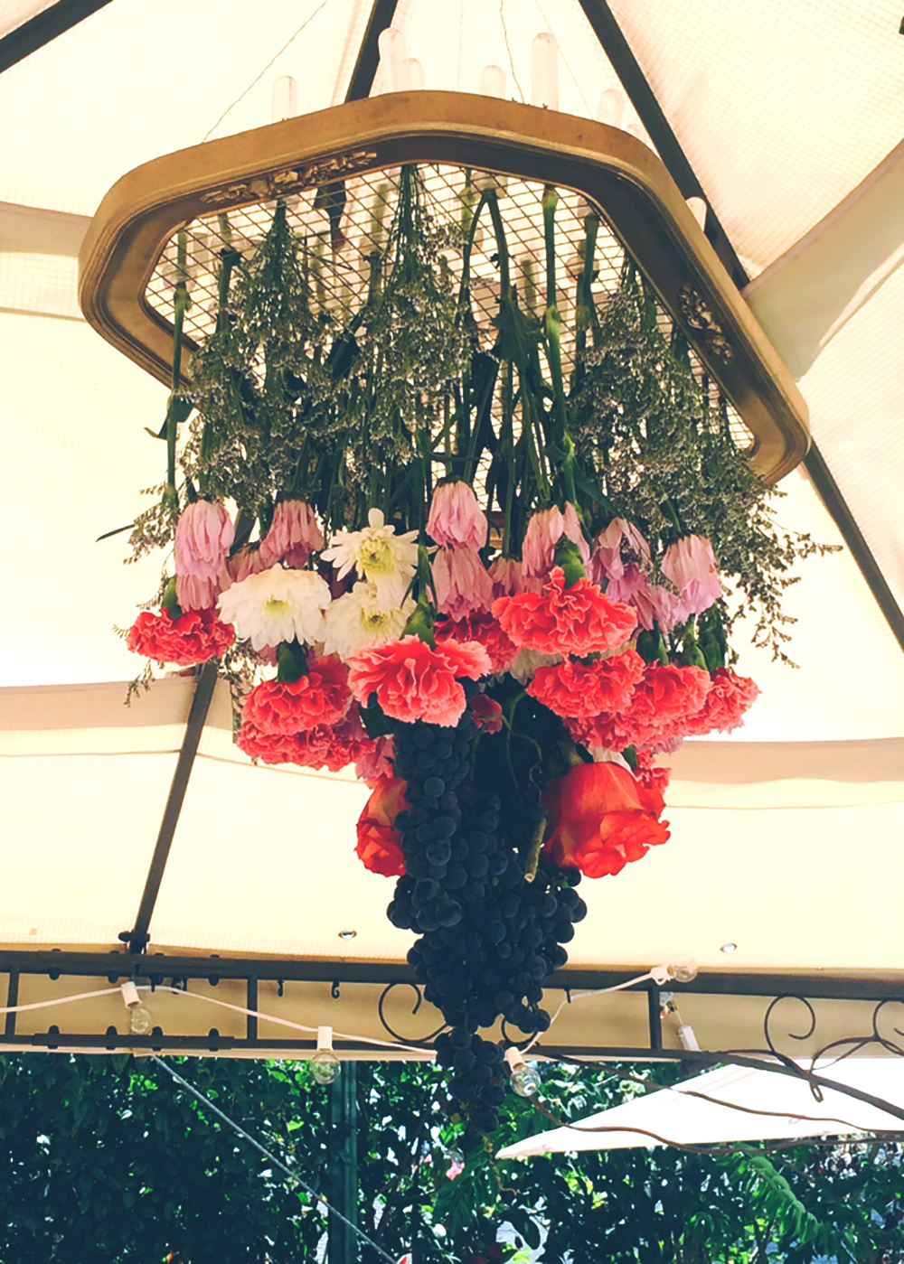 Established California | Party | Falling for Florals | Floral Chandelier | Play with Heights