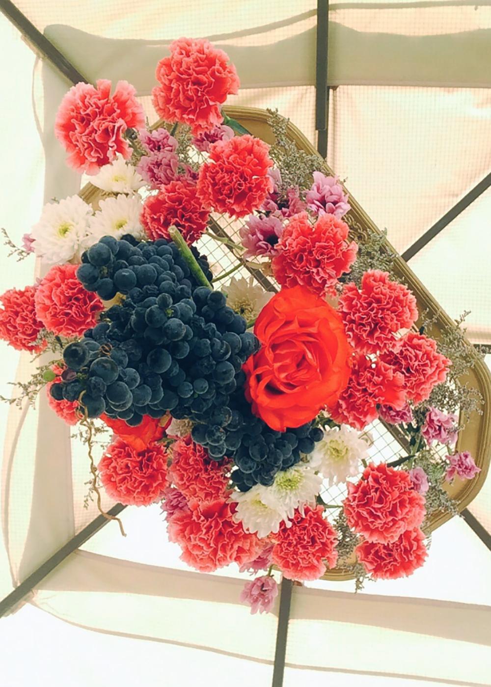 Established California | Party | Falling for Florals | Floral Chandelier | Bottoms up