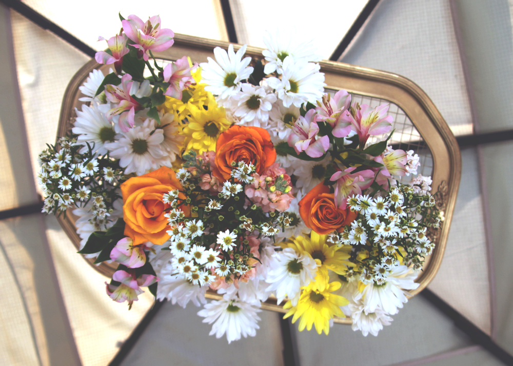 Established California | Party | Falling for Florals | Floral Chandelier | Falling Flowers