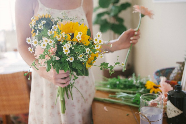 Spring Flower Bouquets DIY on Established California