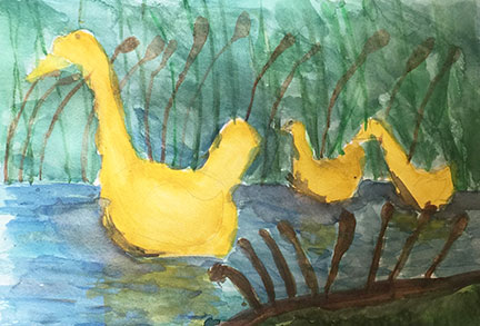 Winnie. 10 y/o. Watercolor.