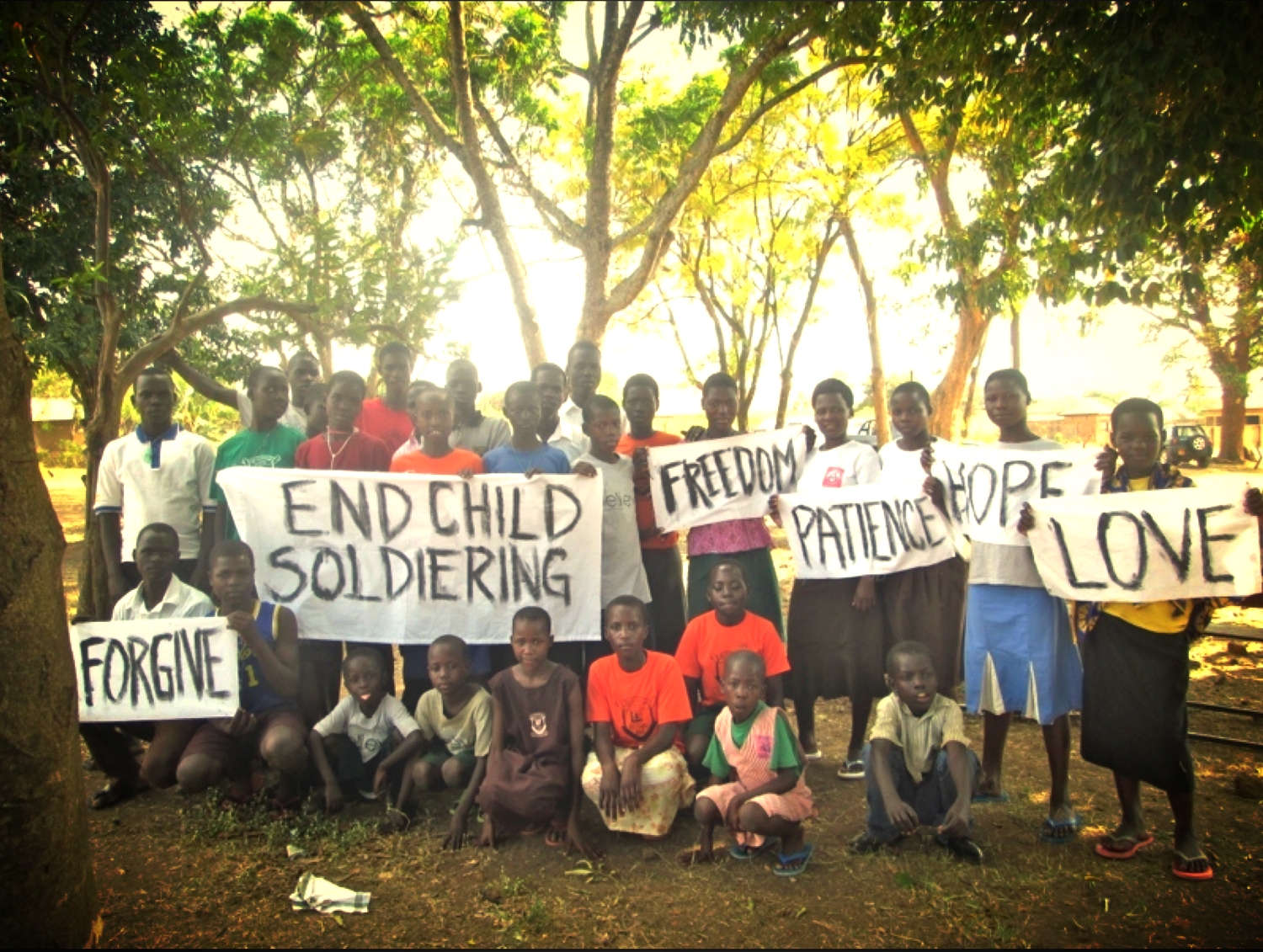 Children of Peace Uganda showing great strength and forgiveness.
