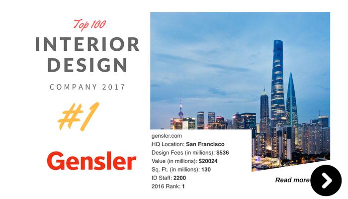 top 100 interior design company Gensler