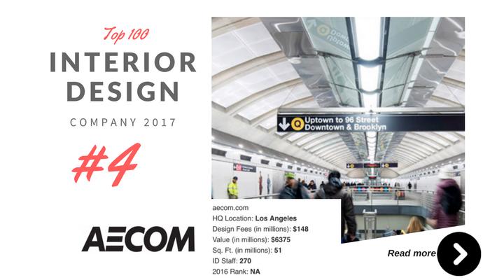 top 100 interior design company Aecom