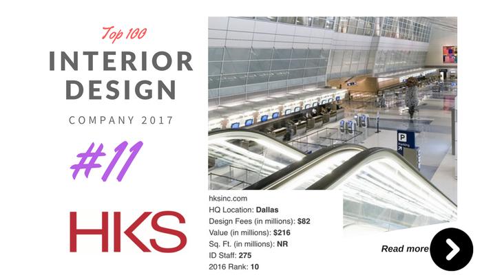 top 100 interior design company HKS
