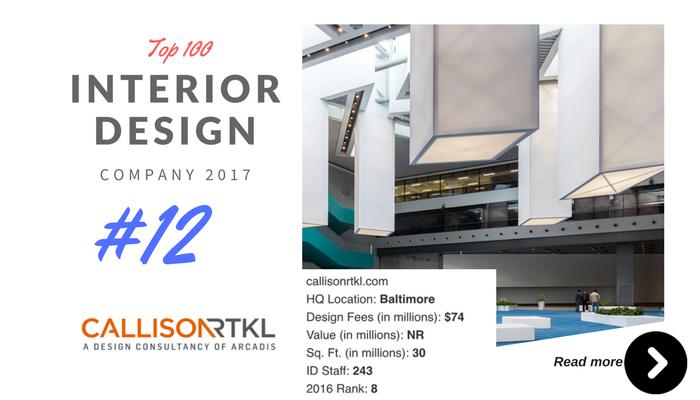 top 100 interior design company callison