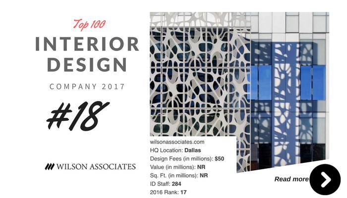 top 100 interior design company wilson associate