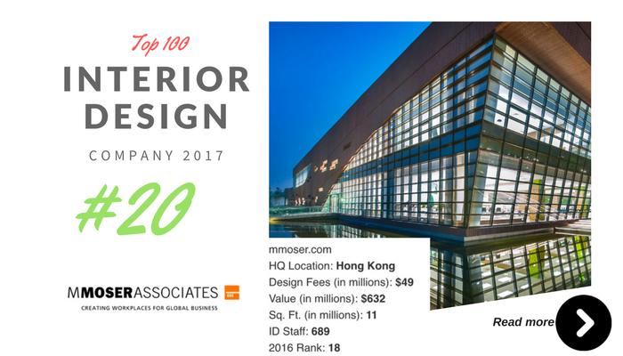 top 100 interior design company MMOSER