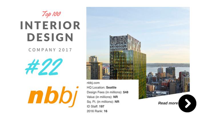 top 100 interior design company nbbj