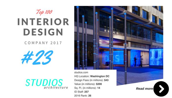 top 100 interior design company studio architecture
