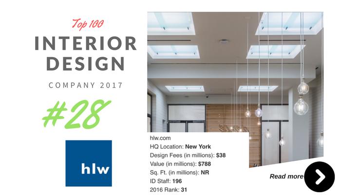 top 100 interior design company HLW