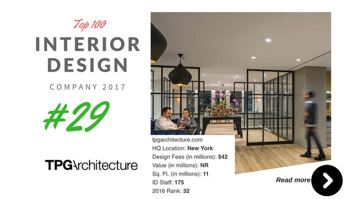 top 100 interior design company TPG
