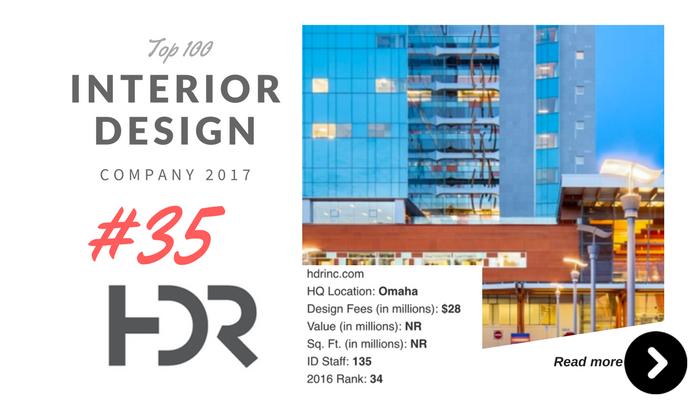 top 100 interior design company HDR