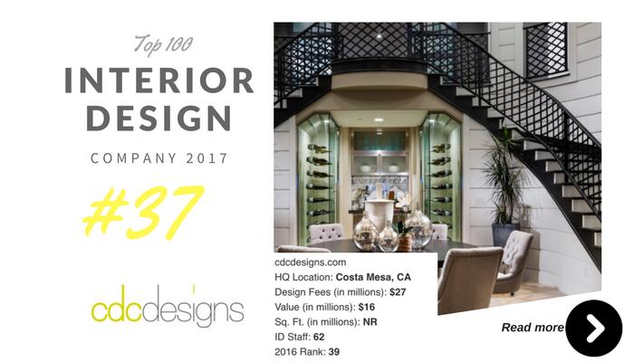 top 100 interior design company cdc design