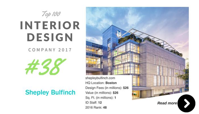 top 100 interior design company shepley bulfinch