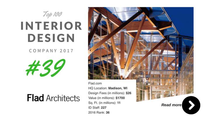 top 100 interior design company flad architect