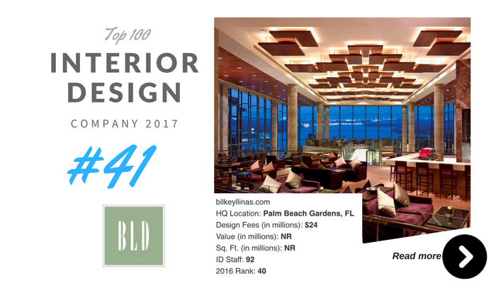top 100 interior design company BLD