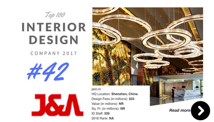 top 100 interior design company J&A