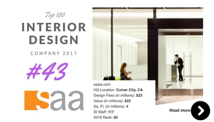 top 100 interior design company SAA