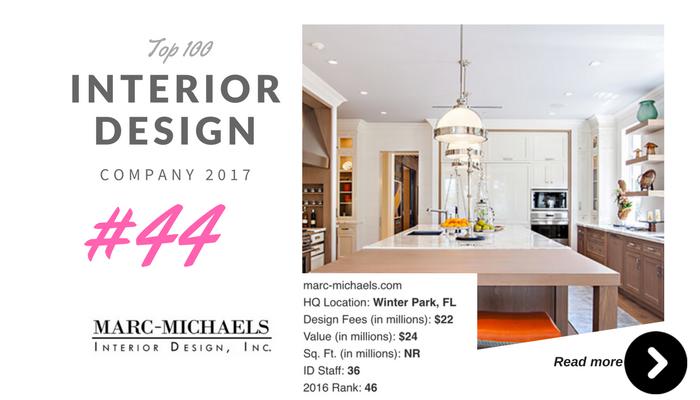 top 100 interior design company Marc michaels