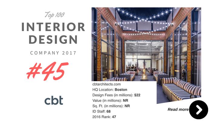 top 100 interior design company CBT